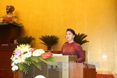 越南第十四届国会第三次会议隆重开幕 hinh anh 1