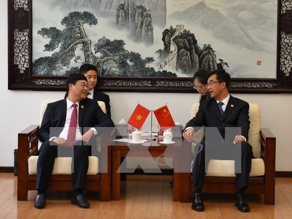 越中青年交流活动致力于促进两国关系向前发展 hinh anh 1