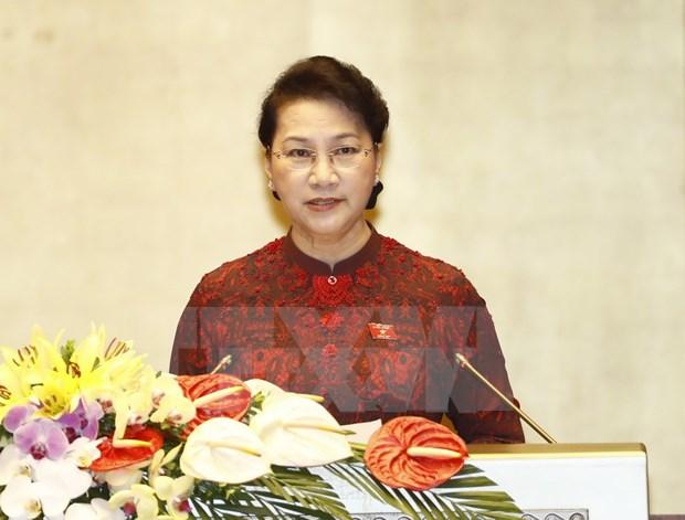 第十四届国会第三次会议:国会主席阮氏金银致开幕辞 hinh anh 1