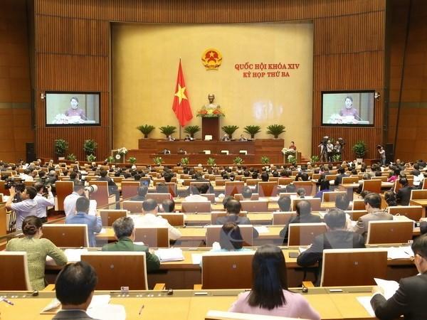 越南第十四届国会第三次会议发表第一号公报 hinh anh 1