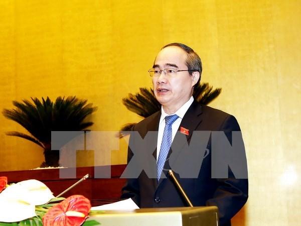 阮善仁被选为胡志明市国会代表团团长 hinh anh 1