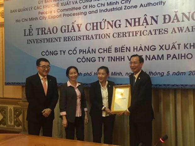 胡志明市迎来近9000万美元的两个外资项目 hinh anh 1