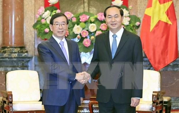 越南国家主席陈大光会见韩国总统特使 hinh anh 1