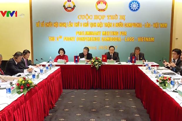 越老柬三国阵线主席第3次会议将于6月25日在河内举行 hinh anh 1