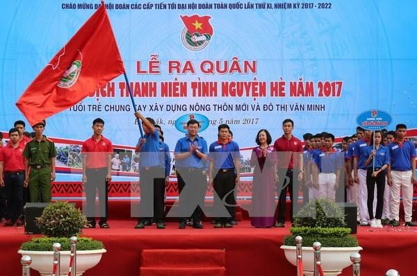 2017年夏季青年志愿者运动出征仪式在得乐省举行 hinh anh 1