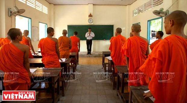 寺内的高棉文培训班 hinh anh 1