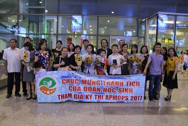 越南学生在亚太地区数学奥林匹克竞赛获得4枚金牌 hinh anh 1