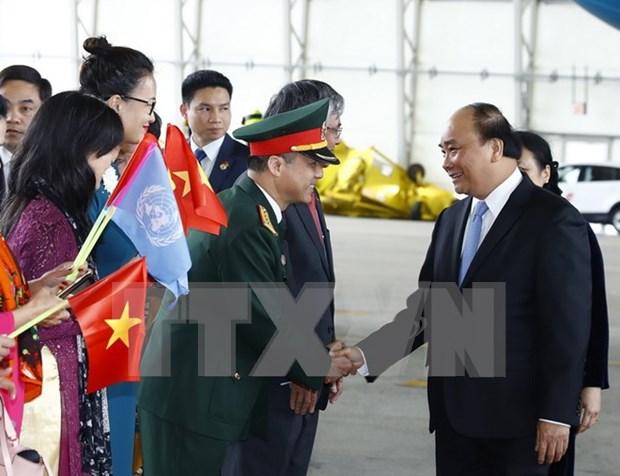 越南政府总理阮春福抵达纽约 开始对美国进行正式访问 hinh anh 1