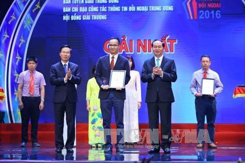 第三届越南全国对外新闻奖:对外宣传工作的效果显著提高 hinh anh 3