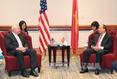 阮春福总理抵达华盛顿开始系列会见活动 hinh anh 3