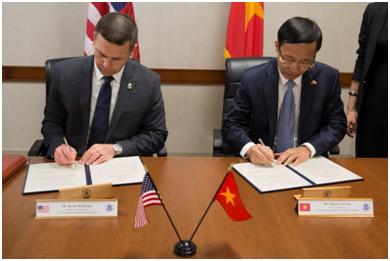 越美签署意向书 促进海关合作协定谈判 hinh anh 1