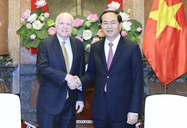 国家主席陈大光会见美国参议员约翰·麦凯恩 hinh anh 1