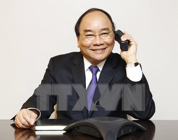 阮春福总理与美国议员通电话 hinh anh 1