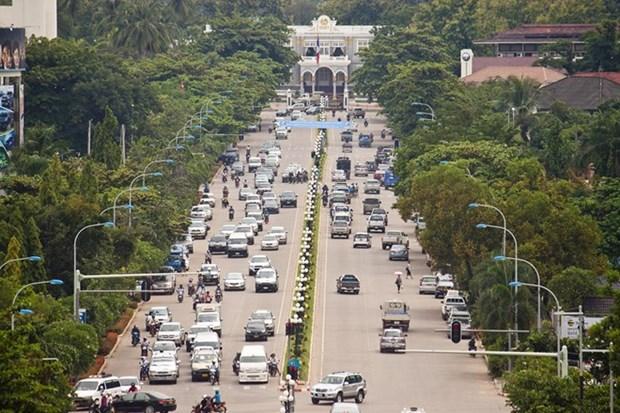 老挝首都万象至巴色高速公路建设项目正式启动 hinh anh 1