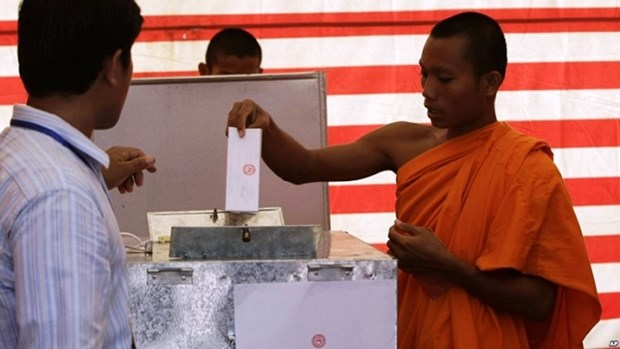 柬埔寨乡分区选举在即 洪森首次亲自参加竞选活动 hinh anh 1