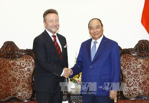越南政府总理阮春福会见捷克驻越大使 hinh anh 1