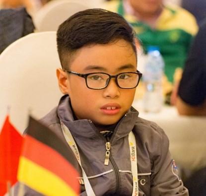 2017年世界青少年国际象棋锦标赛:范陈家福夺得U8超快棋银牌 hinh anh 1