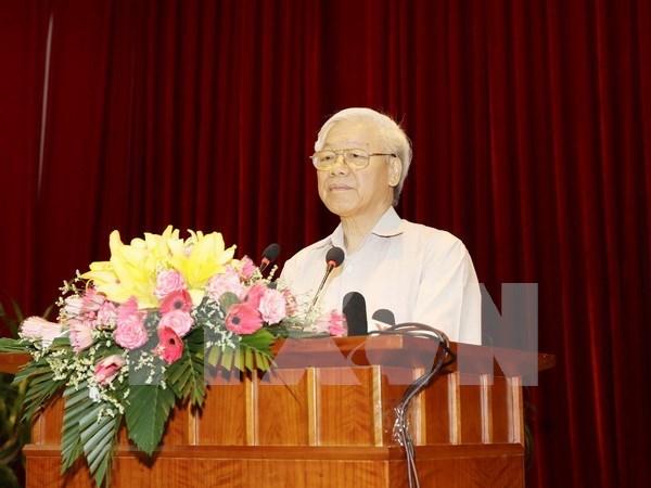 越共中央总书记颁布决议 就促进国有企业调结构、转方式作出指导 hinh anh 1