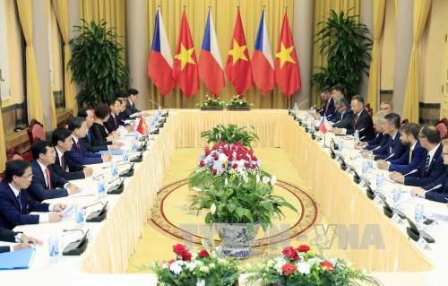 越南国家主席陈大光与捷克总统米洛什·泽曼举行会谈 hinh anh 2