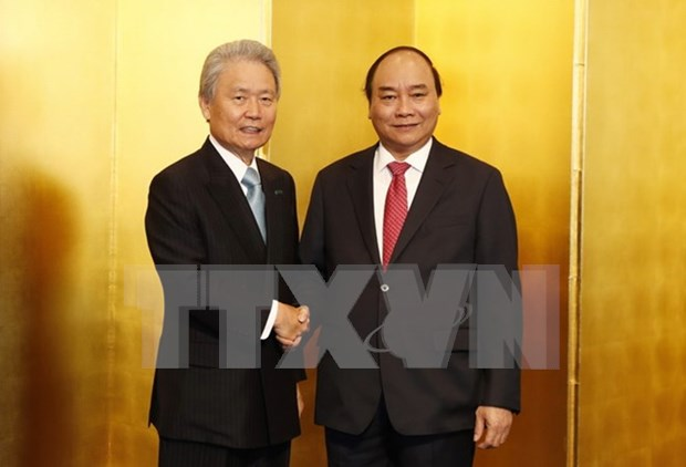 阮春福:越南欢迎日本经团联成员集团加大对越投资力度 hinh anh 1