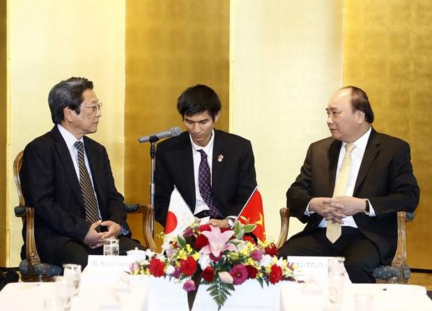 阮春福总理参观日本电产 圆满结束对日本进行的正式访问 hinh anh 2