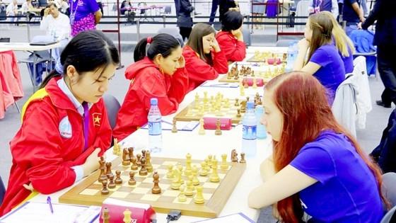 越南国际象棋女队将参加2017国际象棋世界女子团体赛 hinh anh 1