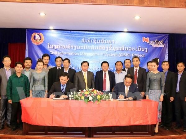 越老合资电信公司协助老挝建设人口管理系统 hinh anh 1