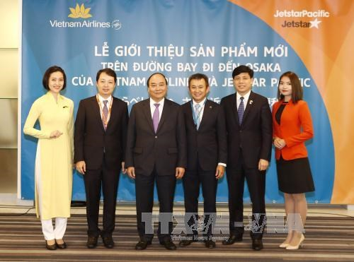 越南航空和捷星太平洋航空在日本展开密集旅游推广活动 hinh anh 1