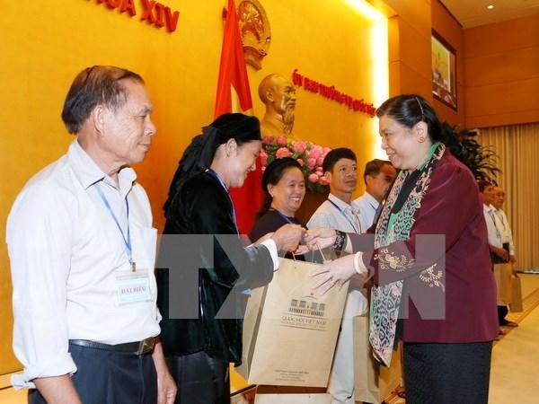 国会副主席丛氏放:党和国家一向珍惜少数民族优秀代表的贡献 hinh anh 1