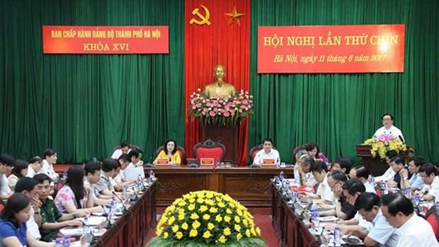 越共河内市第十六届委员会在河内召开第九次全体会议 hinh anh 1