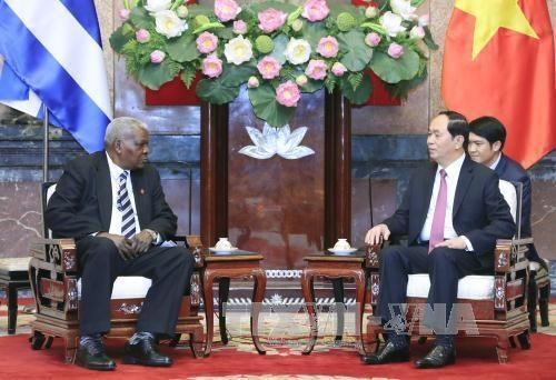 越南国家主席陈大光会见古巴全国人民政权代表大会主席埃斯特万 hinh anh 1