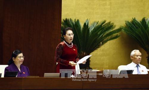第十四届国会第三次会议:国会代表就4大内容对各位部长进行质询 hinh anh 1