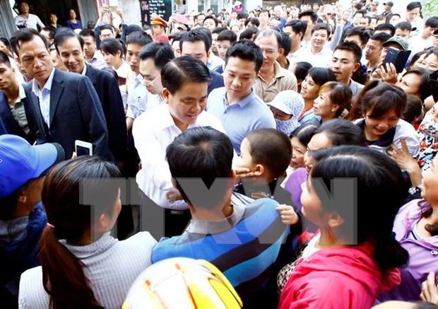 河内市公安机关起诉同心乡非法拘禁人员案件 hinh anh 1
