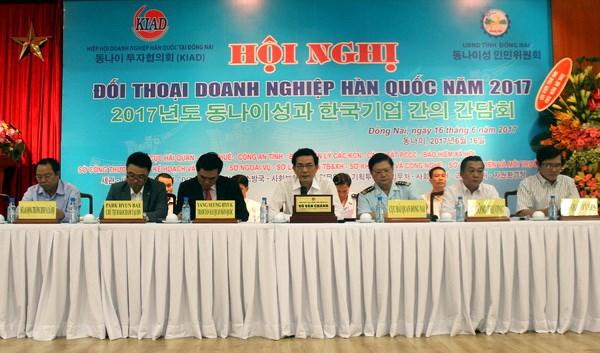 越南同奈省政府与100多家韩国企业代表进行对话 hinh anh 1