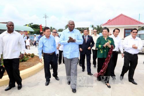 古巴全国人民政权代表大会高级代表团访问槟椥省 hinh anh 1