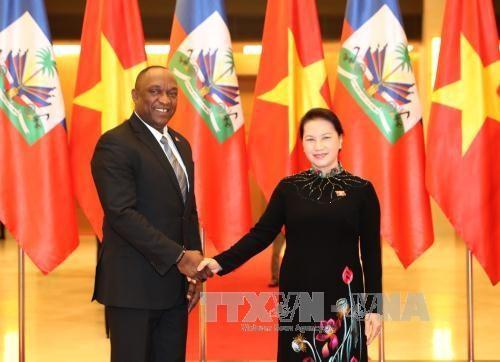 国会主席阮氏金银与海地参议院议长尤里举行会谈 hinh anh 1