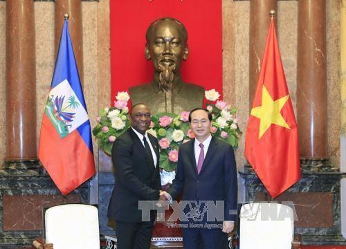 国家主席陈大光会见海地参议院议长尤里•拉托尔蒂 hinh anh 1