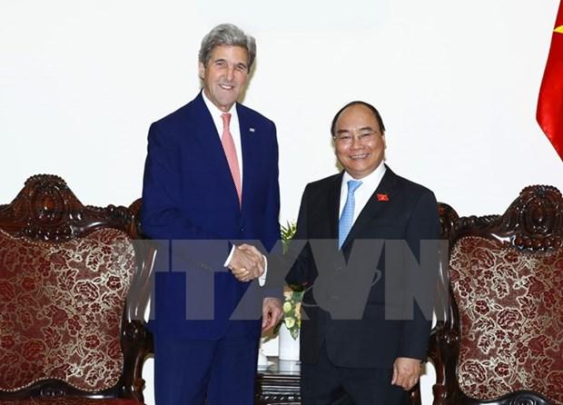 阮春福总理会见原美国国务卿约翰·克里 hinh anh 1