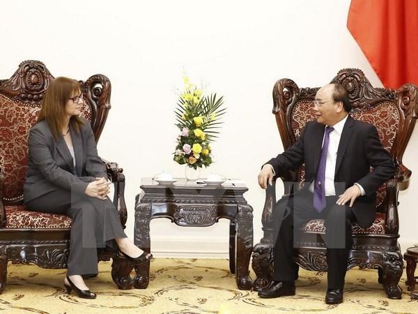 越南政府总理阮春福会见以色列驻越南大使 hinh anh 1