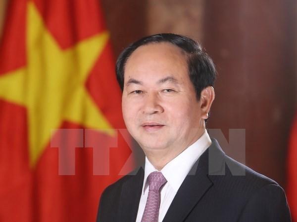 越南国家主席陈大光和夫人启程对白俄罗斯进行正式访问 hinh anh 1