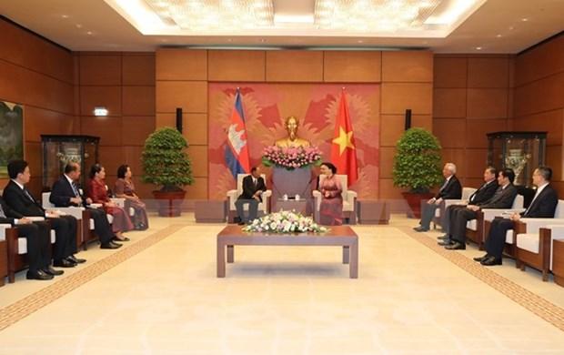 柬埔寨国会主席韩桑林圆满结束访越之旅 hinh anh 1