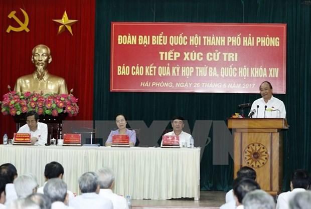 阮春福总理:从中央到地方政府需言行一致 使人民群众生活得更安心 hinh anh 1