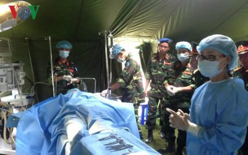 越南二级野战医院随时执行联合国南苏丹特派团的任务 hinh anh 1