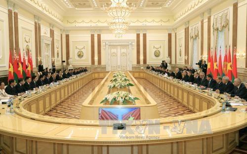 国家主席陈大光与白俄罗斯总统亚历山大·卢卡申科举行会谈 hinh anh 3