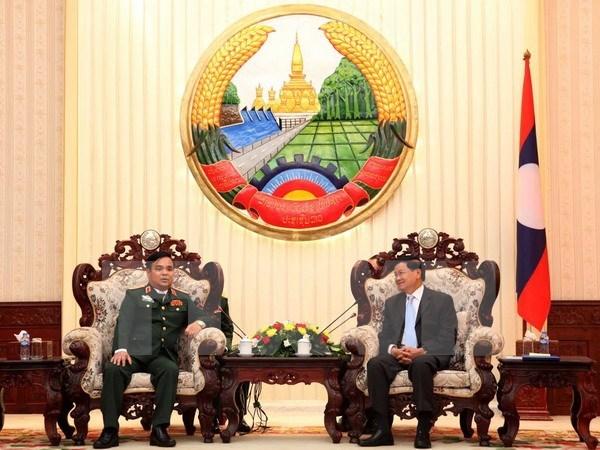 老挝总理高度评价越老两国政府特别工作委员会的合作成果 hinh anh 1