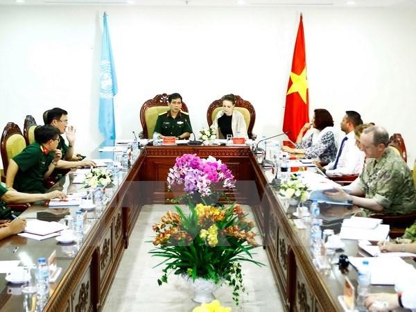联合国评估和咨询访问代表团高度评价越南维和部队的能力 hinh anh 1