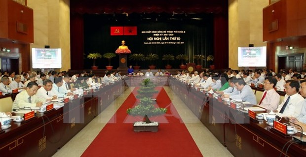 越共胡志明市第十届委员会第十次全体会议拉开帷幕 hinh anh 1