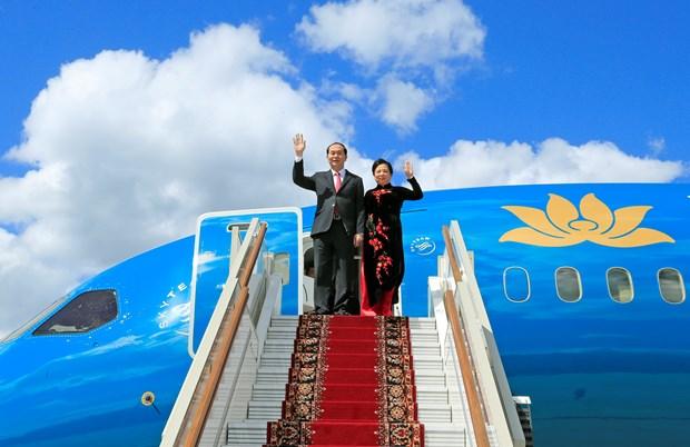 越南国家主席陈大光开始对俄罗斯进行正式访问 hinh anh 1