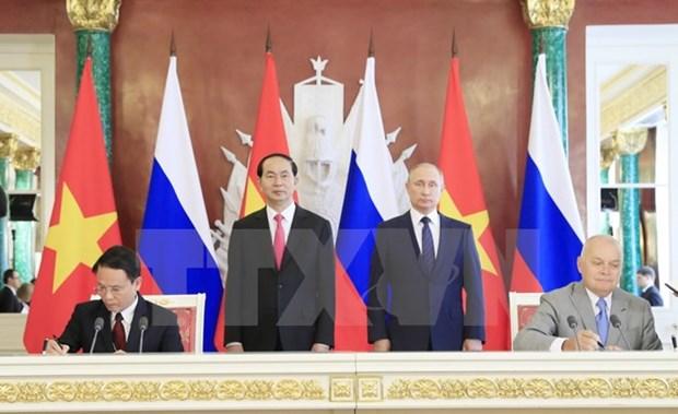 越通社与俄罗斯卫星通讯社签署新闻互换协议 hinh anh 1