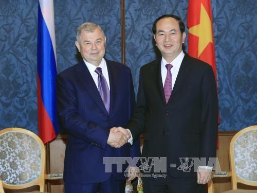 国家主席陈大光前往圣彼得堡市进行访问 hinh anh 1